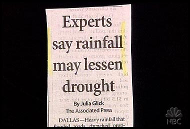 experts and rainfall