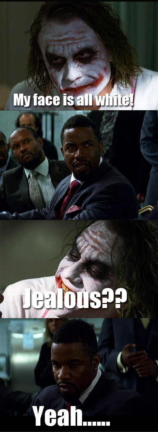 Joker and a black man