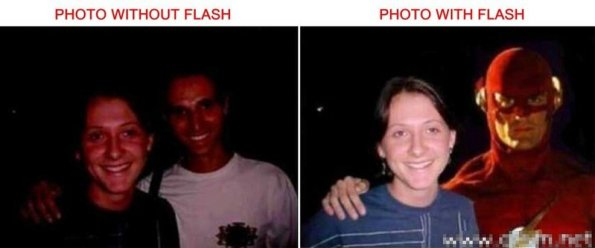 photos with and without flash